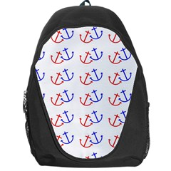 Anchors Nautical Backdrop Sea Nautical Backpack Bag