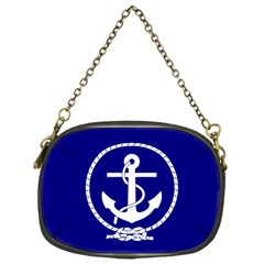 Anchor Flag Blue Background Chain Purses (one Side)