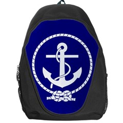 Anchor Flag Blue Background Backpack Bag