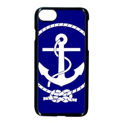 Anchor Flag Blue Background Apple Iphone 8 Seamless Case (black)