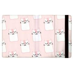 Pattern Cat Pink Cute Sweet Fur Apple Ipad 3/4 Flip Case