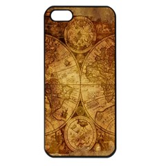 Map Of The World Old Historically Apple Iphone 5 Seamless Case (black)