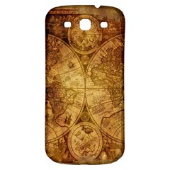 Map Of The World Old Historically Samsung Galaxy S3 S Iii Classic Hardshell Back Case
