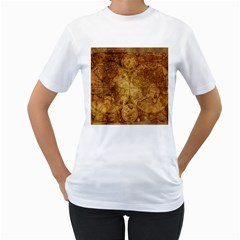 Map Of The World Old Historically Women s T Shirt (white)