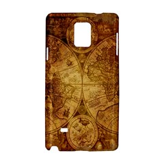 Map Of The World Old Historically Samsung Galaxy Note 4 Hardshell Case