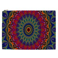 Kaleidoscope Mandala Pattern Cosmetic Bag (xxl)