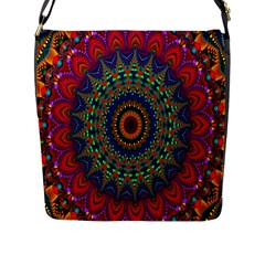 Kaleidoscope Mandala Pattern Flap Messenger Bag (l)