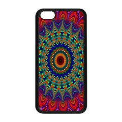 Kaleidoscope Mandala Pattern Apple Iphone 5c Seamless Case (black)