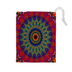 Kaleidoscope Mandala Pattern Drawstring Pouches (large)