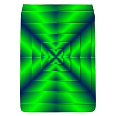 Shiny Lime Navy Sheen Radiate 3d Flap Covers (s)