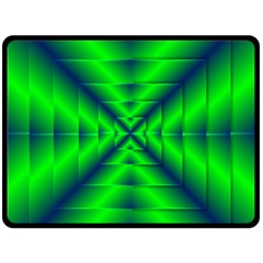 Shiny Lime Navy Sheen Radiate 3d Double Sided Fleece Blanket (large)