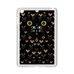 Merry Black Cat In The Night And A Mouse Involved Pop Art Ipad Mini 2 Enamel Coated Cases