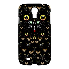 Merry Black Cat In The Night And A Mouse Involved Pop Art Samsung Galaxy S4 I9500/i9505 Hardshell Case