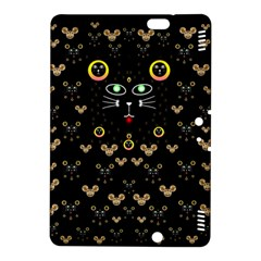 Merry Black Cat In The Night And A Mouse Involved Pop Art Kindle Fire Hdx 8 9  Hardshell Case