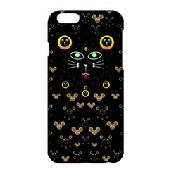 Merry Black Cat In The Night And A Mouse Involved Pop Art Apple Iphone 6 Plus/6s Plus Hardshell Case