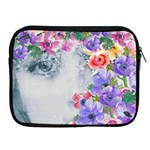 flower girl Apple iPad 2/3/4 Zipper Cases Front