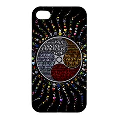 Whole Complete Human Qualities Apple Iphone 4/4s Hardshell Case