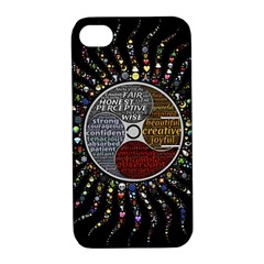 Whole Complete Human Qualities Apple Iphone 4/4s Hardshell Case With Stand