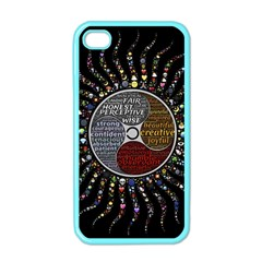 Whole Complete Human Qualities Apple Iphone 4 Case (color)