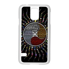 Whole Complete Human Qualities Samsung Galaxy S5 Case (white)