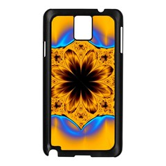 Digital Art Fractal Artwork Flower Samsung Galaxy Note 3 N9005 Case (black)