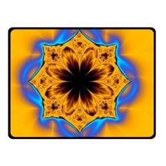 Digital Art Fractal Artwork Flower Double Sided Fleece Blanket (small)