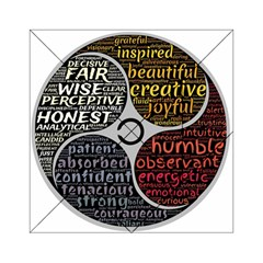 Person Character Characteristics Acrylic Tangram Puzzle (6  X 6 )