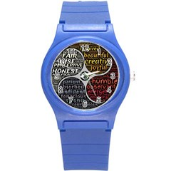 Person Character Characteristics Round Plastic Sport Watch (s)