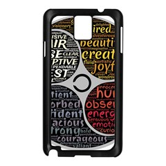 Person Character Characteristics Samsung Galaxy Note 3 N9005 Case (black)