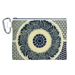 Background Vintage Japanese Canvas Cosmetic Bag (l)
