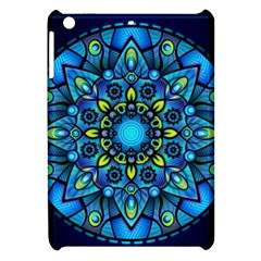 Mandala Blue Abstract Circle Apple Ipad Mini Hardshell Case