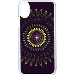 Fractal Purple Mandala Violet Apple Iphone X Seamless Case (white)