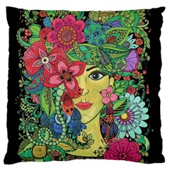 Mandala Figure Nature Girl Standard Flano Cushion Case (two Sides)