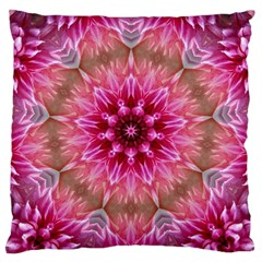 Flower Mandala Art Pink Abstract Large Cushion Case (one Side)