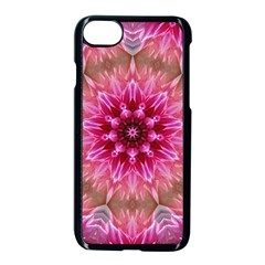 Flower Mandala Art Pink Abstract Apple Iphone 8 Seamless Case (black)
