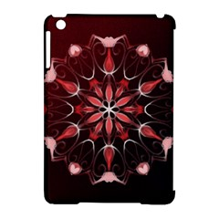 Mandala Red Bright Kaleidoscope Apple Ipad Mini Hardshell Case (compatible With Smart Cover)