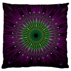 Purple Mandala Fractal Glass Large Cushion Case (one Side)