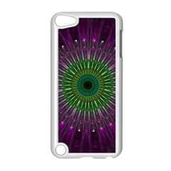 Purple Mandala Fractal Glass Apple Ipod Touch 5 Case (white)