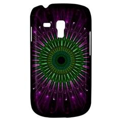 Purple Mandala Fractal Glass Galaxy S3 Mini