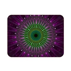 Purple Mandala Fractal Glass Double Sided Flano Blanket (mini)