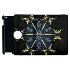Mandala Butterfly Concentration Apple Ipad 2 Flip 360 Case