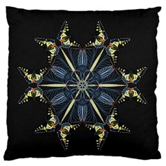 Mandala Butterfly Concentration Large Flano Cushion Case (two Sides)