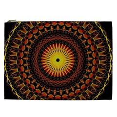 Mandala Psychedelic Neon Cosmetic Bag (xxl)