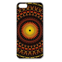 Mandala Psychedelic Neon Apple Seamless Iphone 5 Case (clear)