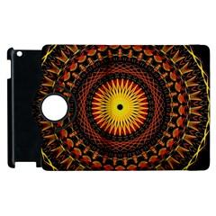 Mandala Psychedelic Neon Apple Ipad 2 Flip 360 Case