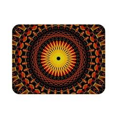 Mandala Psychedelic Neon Double Sided Flano Blanket (mini)