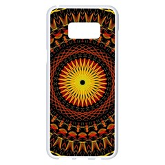 Mandala Psychedelic Neon Samsung Galaxy S8 Plus White Seamless Case