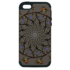 Bird Mandala Spirit Meditation Apple Iphone 5 Hardshell Case (pc+silicone)