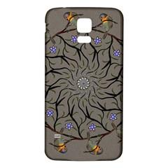 Bird Mandala Spirit Meditation Samsung Galaxy S5 Back Case (white)