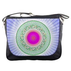 Flower Abstract Floral Messenger Bags
